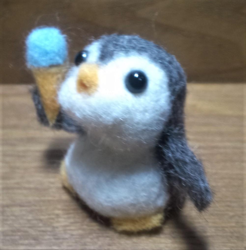 ペンギンさんの顔が変